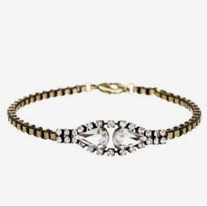 Vintage C&I Petite Double Pear Rhinestone Bracelet